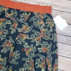 NWT Lularoe Bear Print Lucy Skirt